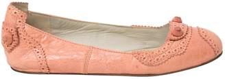 Balenciaga Pink Leather Flats