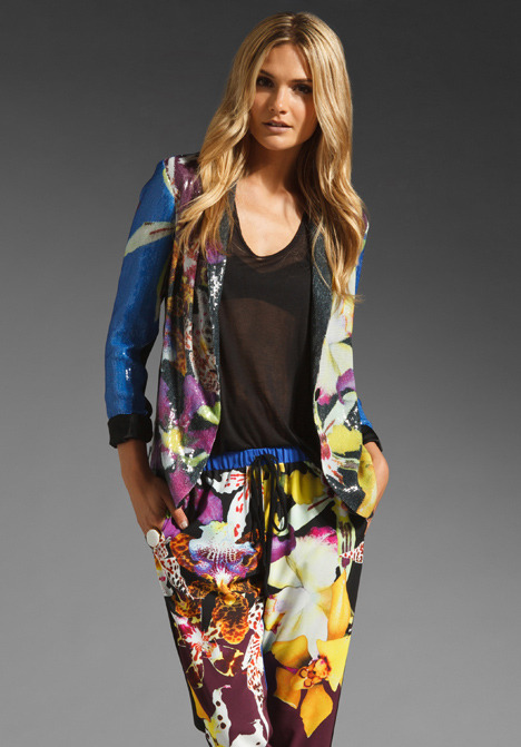 Clover Canyon Peruvian Orchids Sequin Jacket