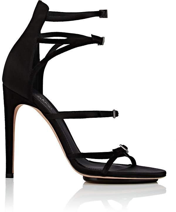 Calvin Klein CALVIN KLEIN WOMEN'S VINNA SATIN & SUEDE SANDALS