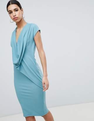 4e2191ad33f80 Blue Drape Front Dresses - ShopStyle UK