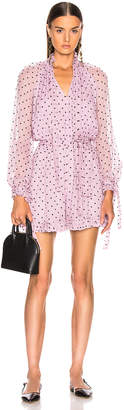 Zimmermann Ninety Six Neck Tie Playsuit in Lilac Dot | FWRD