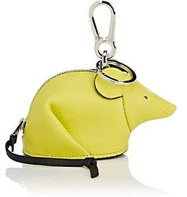 Loewe Women's Mouse Leather Coin Purse Key Chain-Yellow Lemon