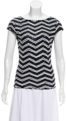 Alice + Olivia Sequin Patterned Top