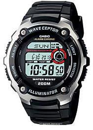 Casio Men's Waveceptor Atomic Black Resin Strap Watch
