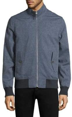 Bonobos Men's Chambray Stretch Bomber Jacket - Solid Ch - Size Small