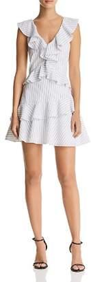 Saylor Striped Ruffle Dress