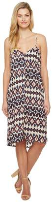 Brigitte Bailey Lovis Spaghetti Strap Tribal Print Maxi Dress Women's Dress
