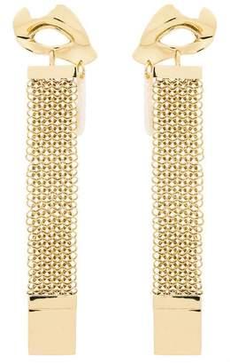Ellery Gold Broken Eye Drop Chain Earrings