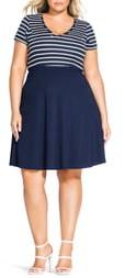 City Chic Sailor Stripe Dress