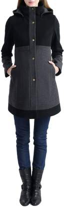 Kimi and Kai 'Tessa' Colorblock Maternity Coat