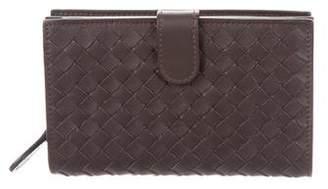 Bottega Veneta Intrecciato Vertical Wallet w/ Tags