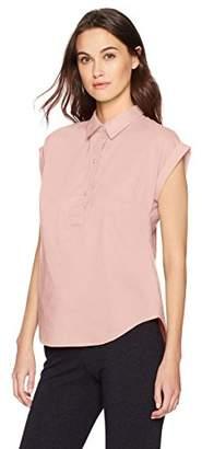 Nautica Women's Short Sleeve Solid Flowy Top