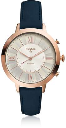 Fossil Hybrid Smartwatch - Q Jacqueline Navy Leather