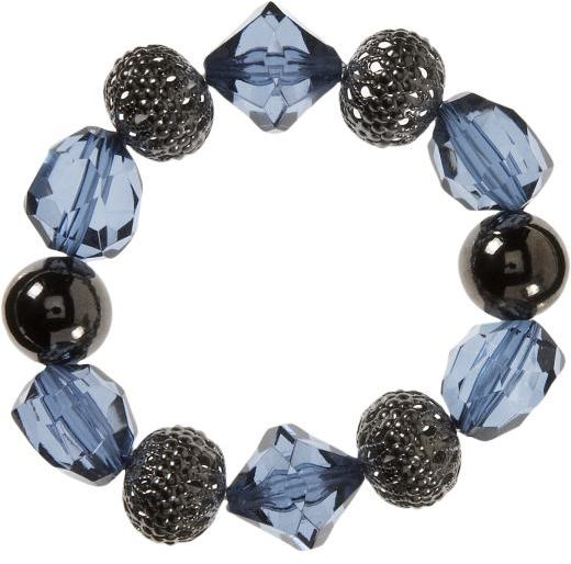 Women's Smoky Blue Chunky Beaded Bracelets