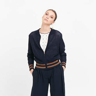 NEW Cashmere Merino Blend Knit Bomber Women's by Le Stripe Store