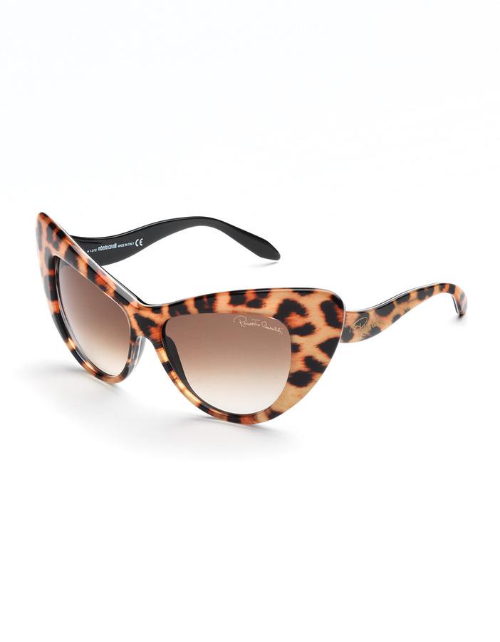 Roberto Cavalli Leopard-Print Cat-Eye Sunglasses