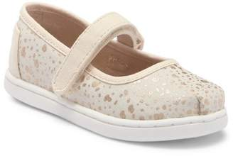 Toms Gold Foil Snow Spots Mary Jane Flat (Toddler & Little Kid)