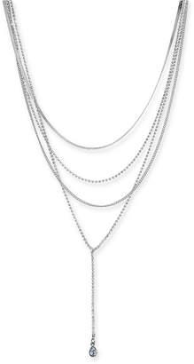 """Thalia Sodi Silver-Tone Crystal & Stone Multi-Layer 16"""" Lariat Necklace"""