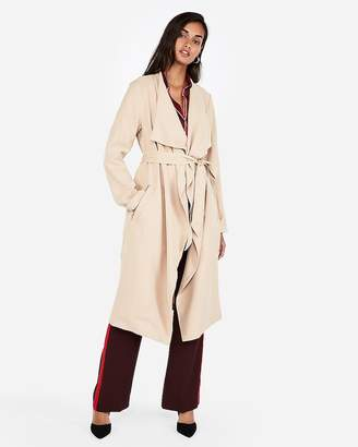 Express Zip Pocket Soft Trench Coat