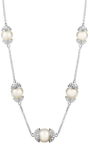 Nadri Faux Pearl Strand Necklace