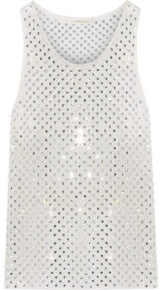 Marc Jacobs - Crystal-embellished Silk-georgette Tank - White $695 thestylecure.com