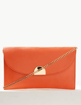 M&S CollectionMarks and Spencer Fold Over Chain Clutch Bag