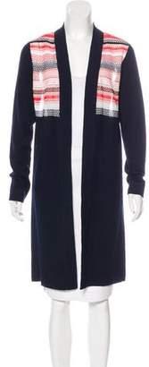 Magaschoni Striped Longline Cardigan w/ Tags