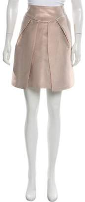 Emporio Armani Pleated Metallic Skirt Champagne Pleated Metallic Skirt