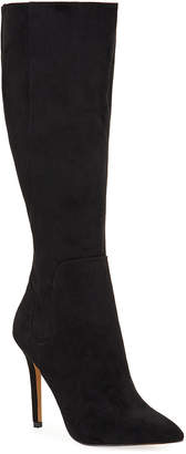 Neiman Marcus Package High-Heel Suede Boots