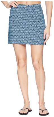 White Sierra West Loop Trail Stretch Printed Skort Women's Skort