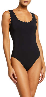 Karla Colletto Ines Scoop-Neck Underwire One-Piece Swimsuit
