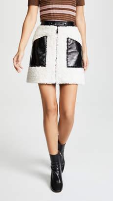 Courreges Sherpa Miniskirt