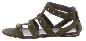 Gucci Suede Multi-Strap Sandals Olive Suede Multi-Strap Sandals