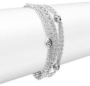 Lois Hill Silver Small Multi Chain Bracelet