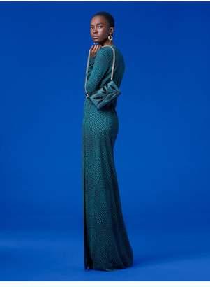 Diane von Furstenberg New Julian Long Banded Silk Jersey Wrap Dress