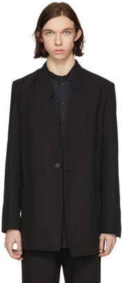 Isabel Benenato Black Asymmetric Collar Blazer