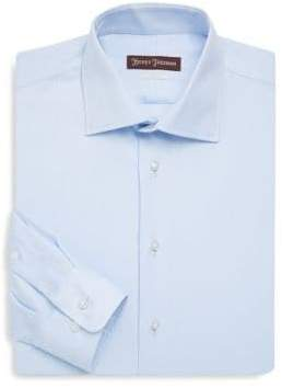 Hickey Freeman Classic Fit Solid Cotton Dress Shirt