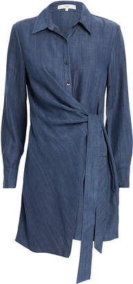 Tibi Tie Waist Shirtdress