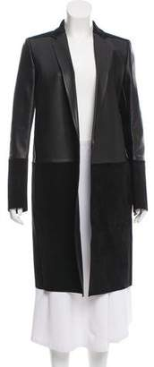 Celine Suede Leather-Paneled Jacket