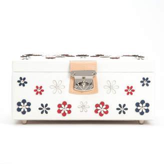 "Wolf Medium Leather Jewelry Box ""Blossom"""
