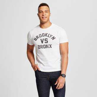 Awake Men's New York Brooklyn vs. Bronx Short Sleeve Crew Neck T-Shirt White XL