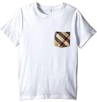 Burberry Pocket Check Tee Kid's T Shirt