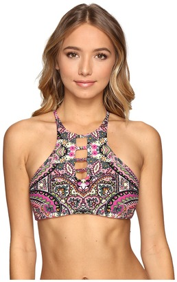Lucky Brand Tapestry Reversible High Neck Top $76 thestylecure.com
