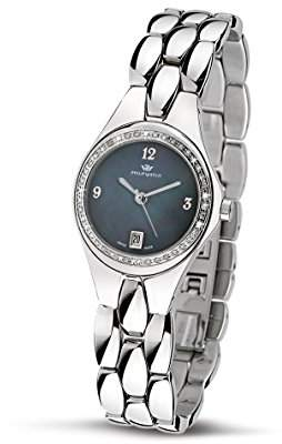 Mother of Pearl Philip Watch Philip Ladies Reflexion Analogue Watch R8253500645 with Quartz Movement, Dial and Stainless Steel Case