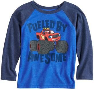 Toddler Boy Jumping Beans Blaze & The Monster Machines Raglan Graphic Tee