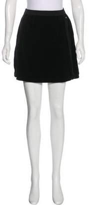 Sonia Rykiel Mini Velor Skirt