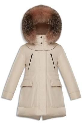 Moncler Girls' Marion Fur-Trimmed Down Parka - Big Kid