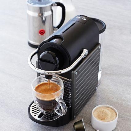 Nespresso Pixie and Aeroccino Plus Milk Frother Set, Titanium