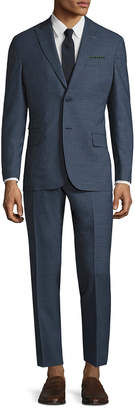Michael Bastian Gray Label Wool Mini Checkered Peak Lapel Suit