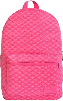 Armani Junior Logo Jacquard & Nylon Backpack